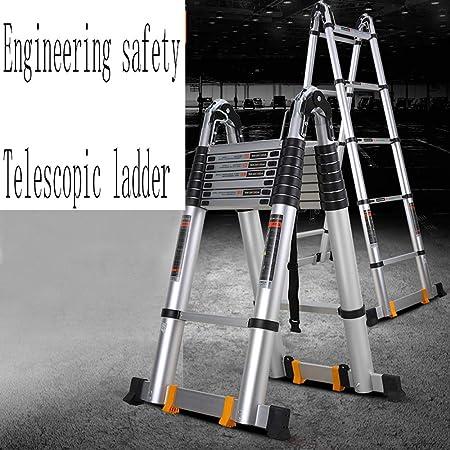 MC-BLL-ladder Escalera de Aluminio Gruesa Escalera de Trabajo telescópica Escalera Plegable Escalera portátil multifunción: Amazon.es: Hogar