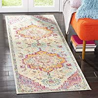 Safavieh Crystal Collection CRS501B Light Blue and Fuchsia Pink Bohemian Medallion Runner (22 x 7)