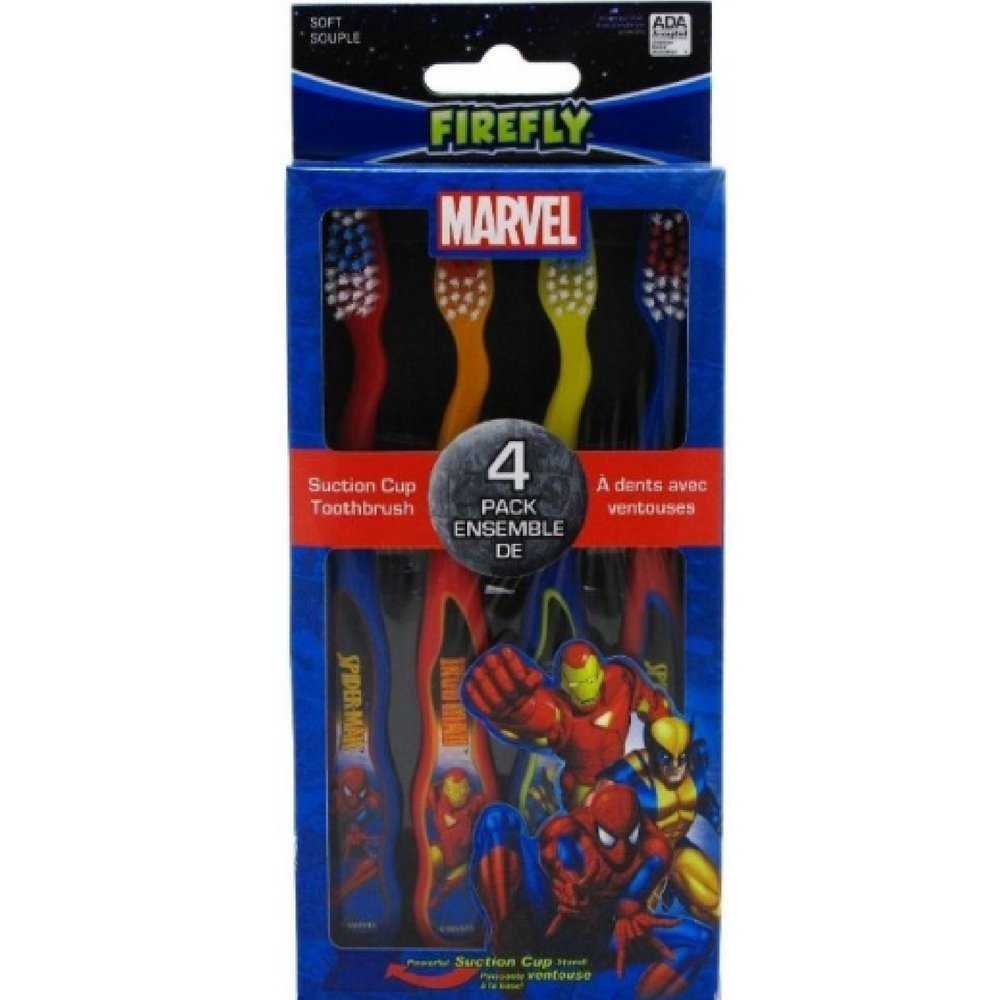 Dr. Fresh Toothbrush 4 Count Marvel Heroes (2 Pack)