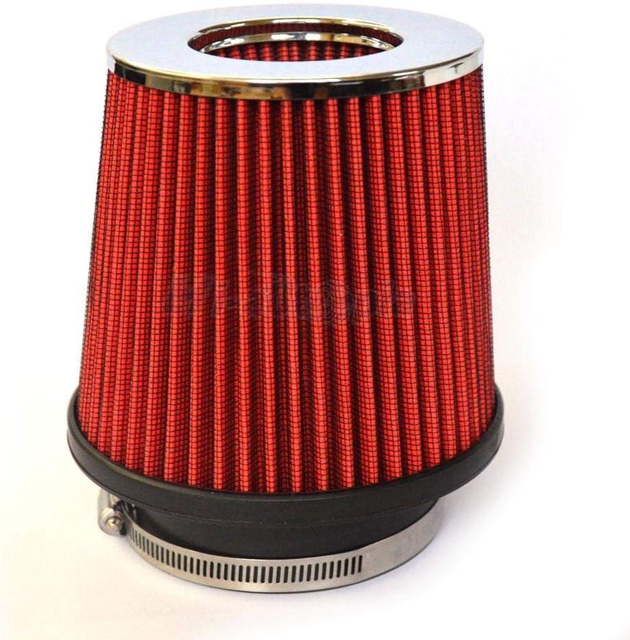 Lizudian 3.5 Universal Race Performance Inlet Cone Air Filter Intake Red Black Sidewall 35.49 lbs Black Sidewall 35.49 lbs