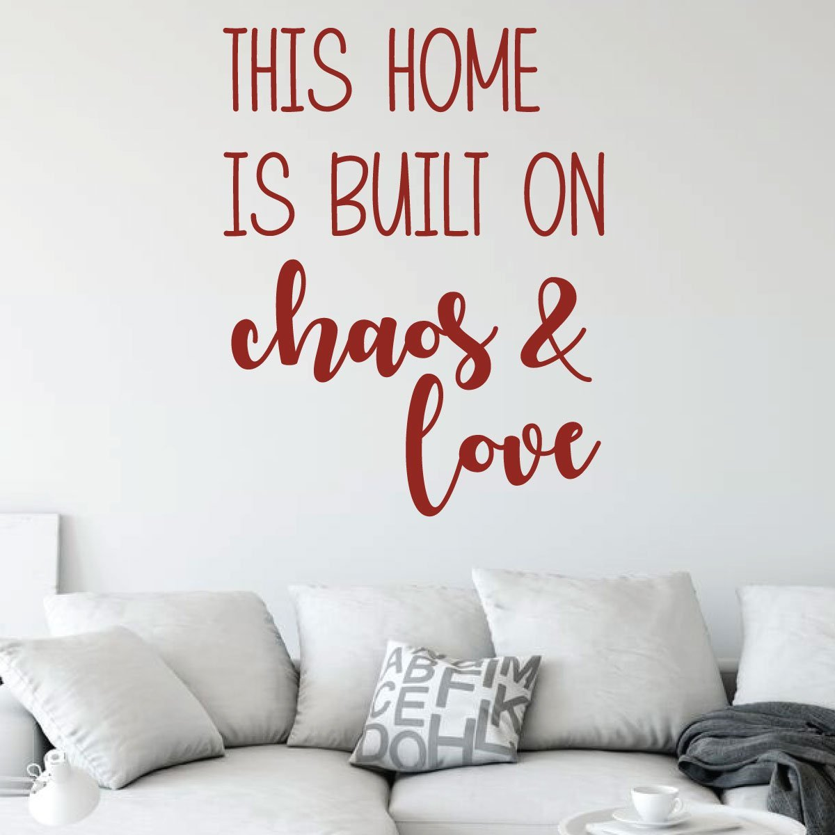 We Call It Family Home Decor House Living Children Welcome Family Entry Hall Vinyl Decal Wall Art Decor Sticker Some Call It Chaos
