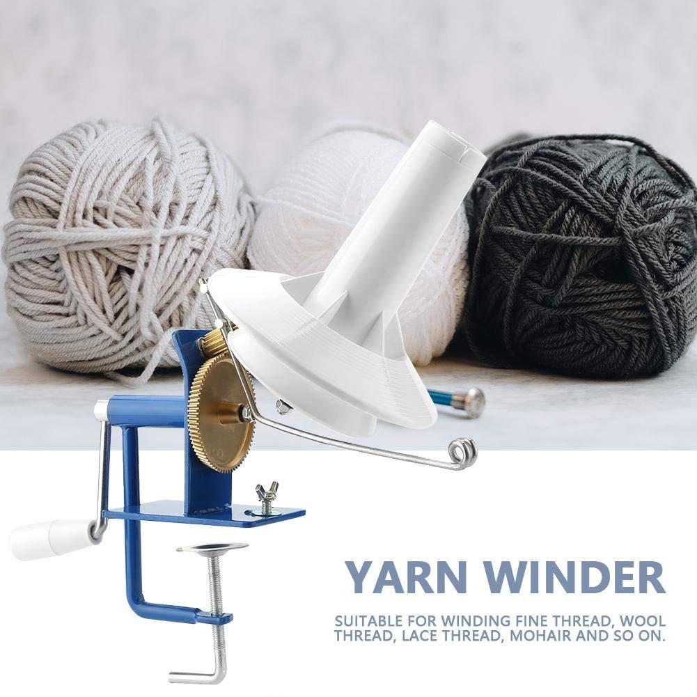 VistorHies - Portable Yarn Ball Winder Hand-operated Wool String Fiber Ball Winder for Yarn Fiber Winding Machine by VistorHies (Image #4)