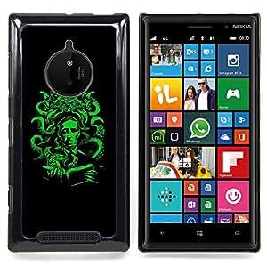 SKCASE Center / Funda Carcasa protectora - Pulpo verde;;;;;;;; - Nokia Lumia 830