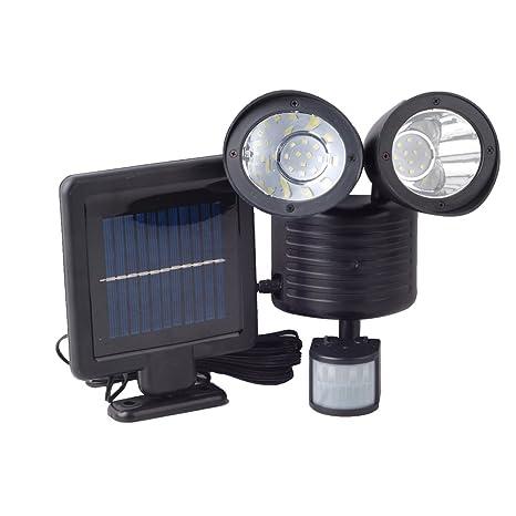 Faro 22 LED ad energia solare PIR lampada da esterno con sensore di movimento
