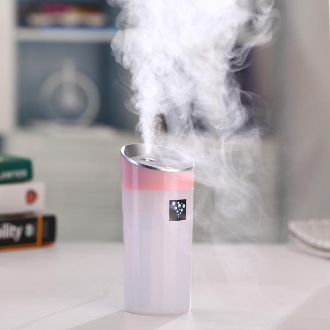 Leegor 300 Ml Large Capacity Lightweight Car Family Use USB Fragrance Anion Humidifier Air Purifier Sterilization Dust Air Freshener (Pink)