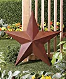3D Large 36'' Rustic Western Amish Texas Americana Style Barn Star Wall Hanging or Stake in Ground Patio Garden Yard Deocration