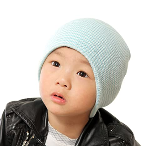 GSPet Outdoor Cute Pompom Solid Color Toddler Baby Boy Girl Elastic Beanie Cap Hat Pink