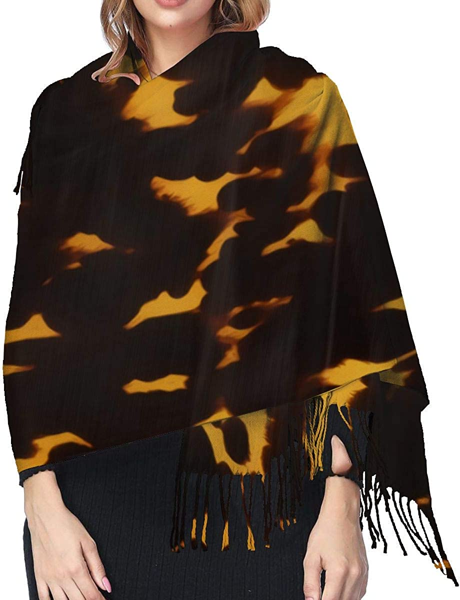 Tortoise Shell Womens Cashmere Shawl Scarves,Winter Scarf 77 X 27