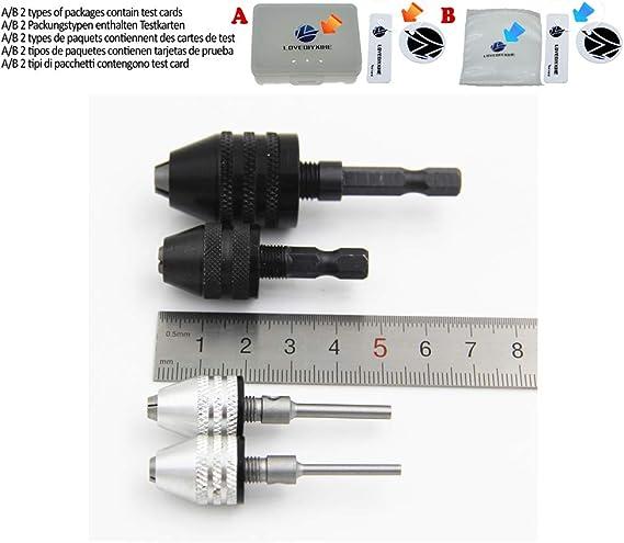 6 35mm Hex Shank Keyless Drill Chuck Quick Change Converter Bit Adapter 1pc Tool