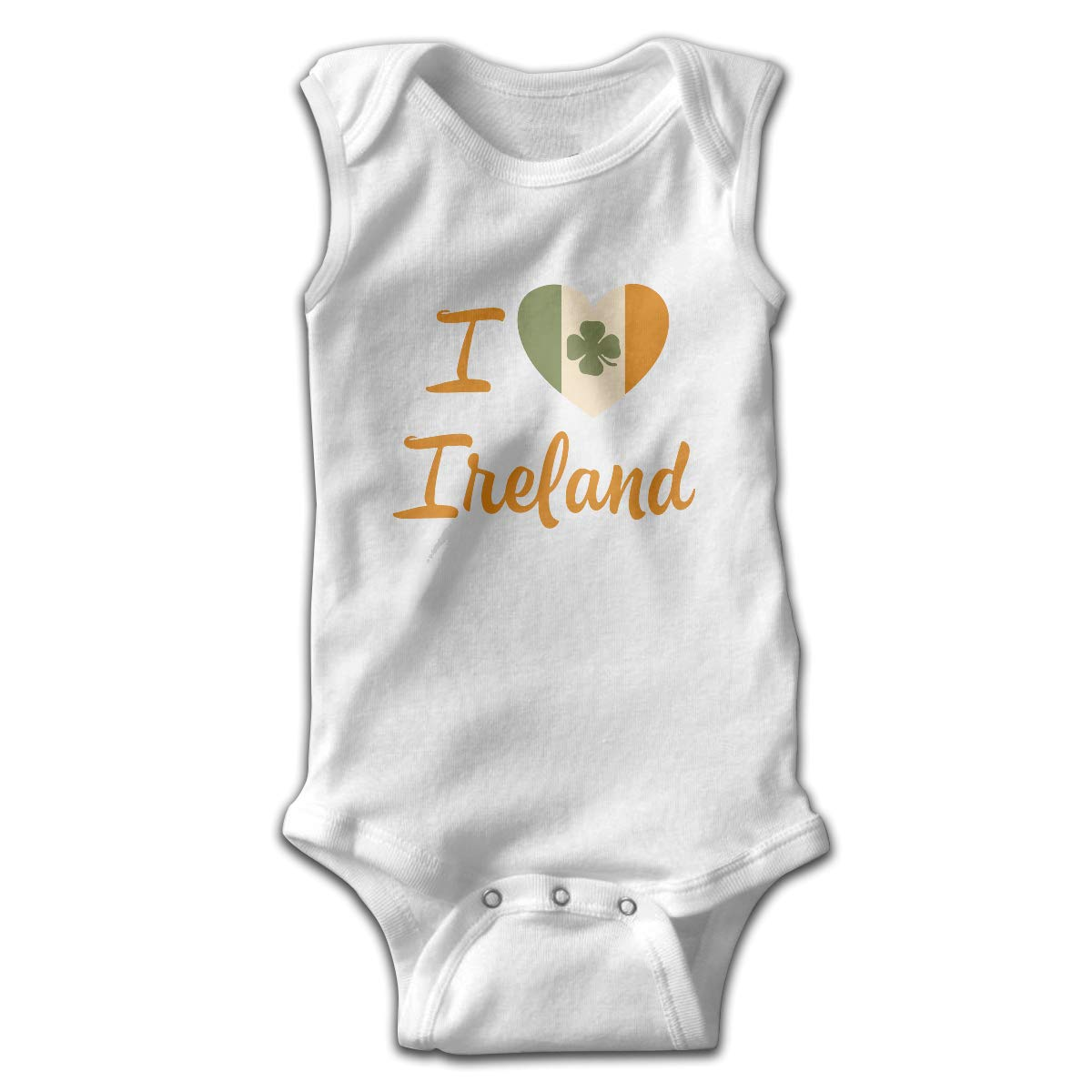 I Love Ireland Printed Infant Baby Boy Girl Sleeveless Bodysuits Coverall Jumpsuit