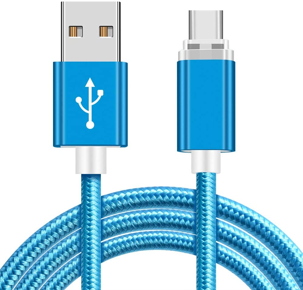 HZHHH Mobile Phone Charging Cable Nylon Braided Flashing USB C Data Cable Suitable for Type-C//Micro Interface Devices 1M