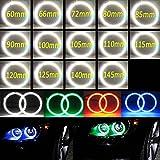 Nslumo Auto Halo Ring 3014 SMD Headlight 60mm 65mm 72mm 80mm 85mm 90mm 100mm 105mm 110mm 115mm 120mm 125mm 140mm 145 mm Car Angel Eyes Kit Led Motor car Eyes (75mm, Red)