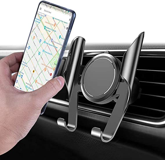 Samsung Smartphones Car Phone Mount Ultimate Smartphone Car Air Vent Holder Easy Clamp Cradle Hands-Free Compatible for iPhone Nokia Silver Moto LG Huawei