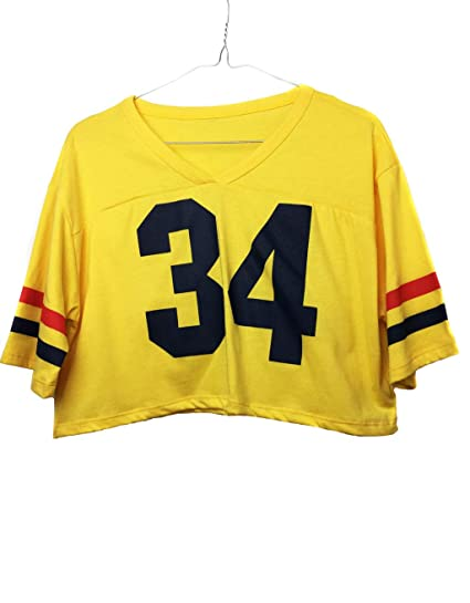 Uissos Camiseta Futbol Americano para Mujer diseño Estampado número 34 Talla Única … (Talla única