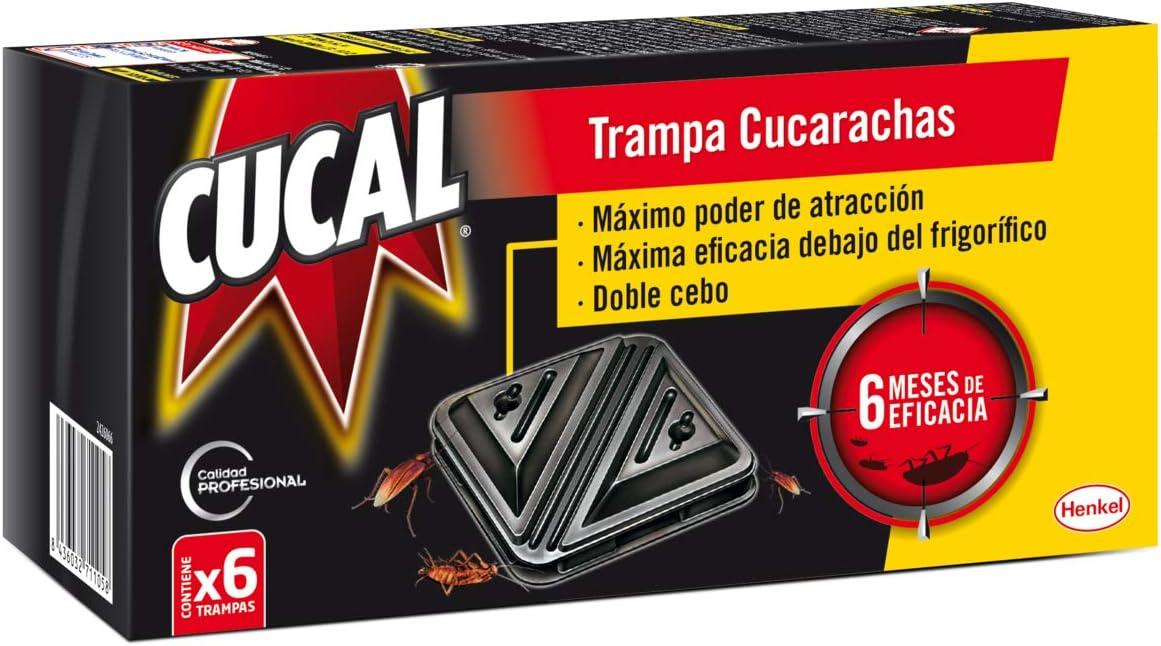 Cucal Trampa doble cebo contra Cucarachas - 6 uds.