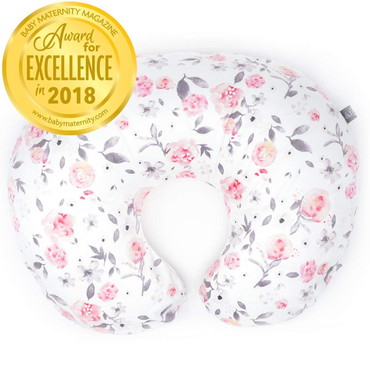 Minky Nursing Pillow Cover - Slipcover ONLY - Petal Slipcover - Best for Breastfeeding Moms - Soft Fabric Fits Snug On Infant Nursing Pillows to Aid Mothers While Breast Feeding by Kids N' Such