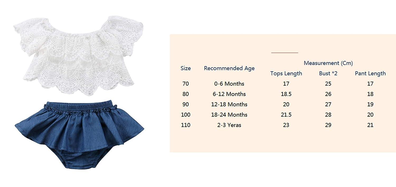 Qiylii 2PCS Baby Girl Lace T-Shirts Tops+Shorts Pants Tutu Skirt Kid Summer Clothes