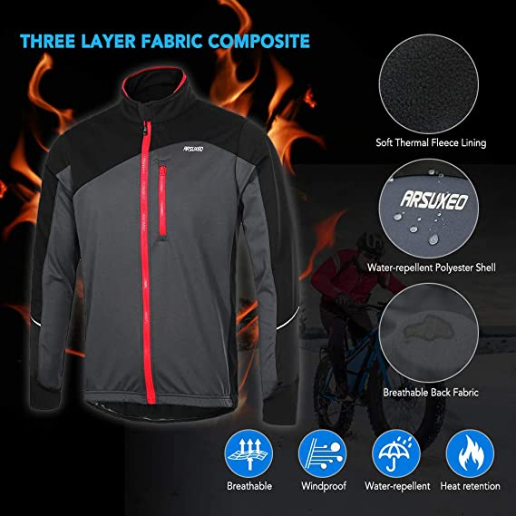 WYOUTDOOR Cycling Jersey Breathable Reflective Windbreaker with Pocket Lightweight Long Sleeved Cycling Jacket for Fishing Riding Biking,A,S