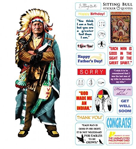 Sitting Bull Quotable Notable - Die Cut Silhouette Greeting Card and Sticker Sheet