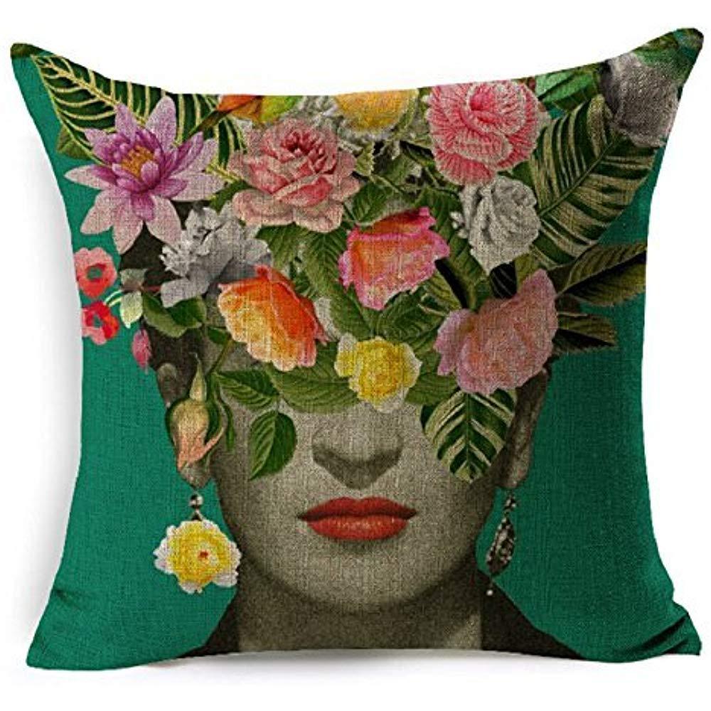 Dana34Malory Funda de cojín de Tela Frida Kahlo Coloridas ...