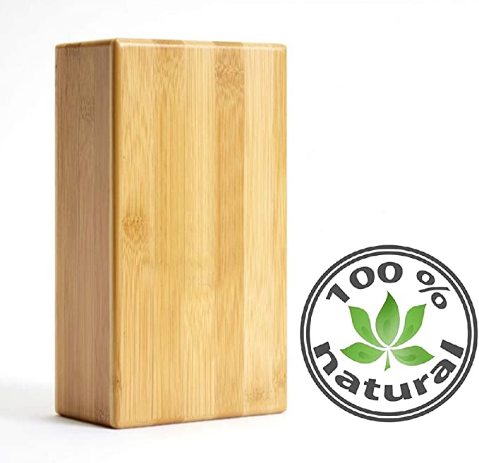 Bambus-Yoga-Block ungiftig um Posen zu vertiefen St/ützstein Bambus-Handstand-Block verbessert die Kraft und f/ördert Balance und Flexibilit/ät geruchlos und wasserabweisend.