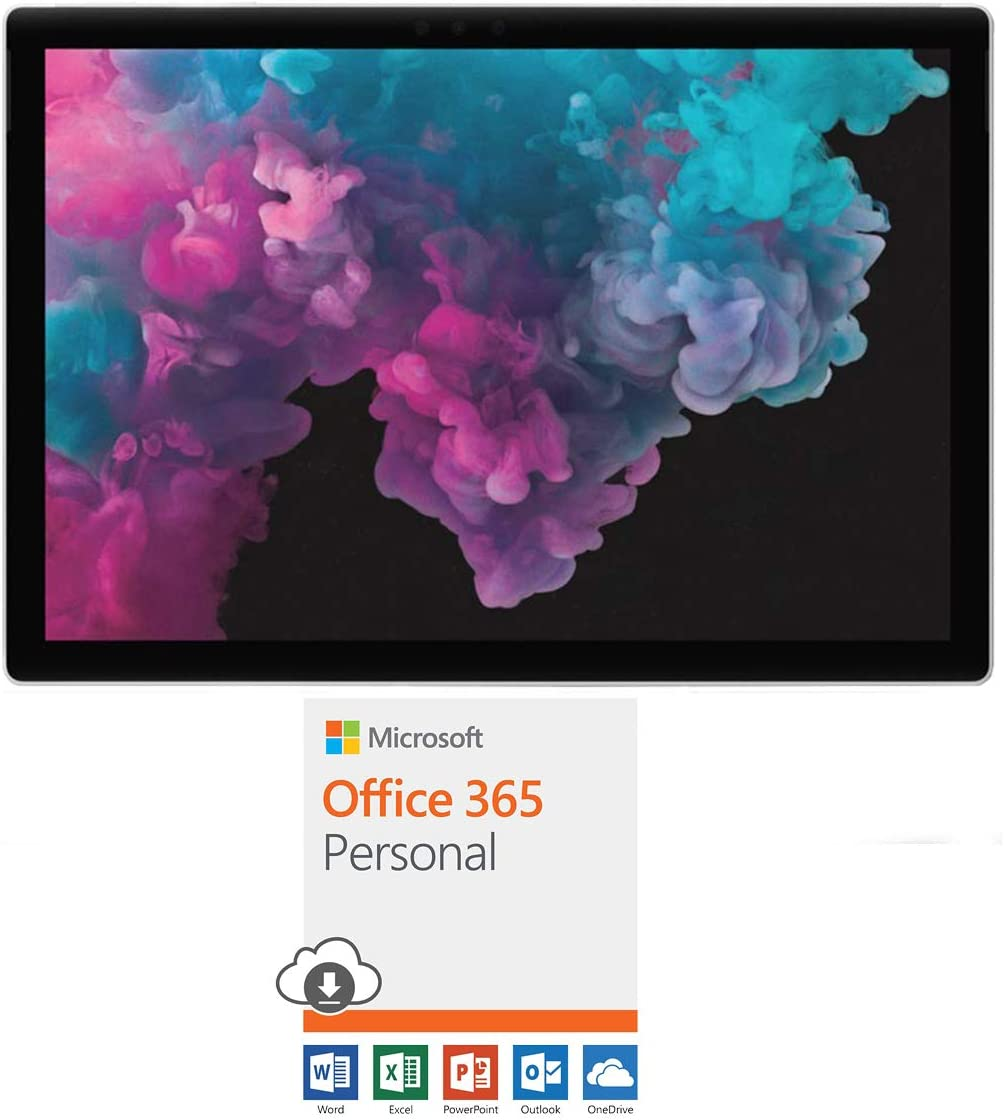 "Microsoft KJT-00001 Surface Pro 6 12.3"" Intel i5-8250U 8GB/256GB SSD Convertible Laptop Office 365 Personal 1-Year Subscription for 1 Person"