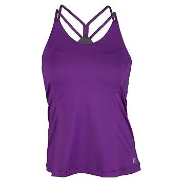Wilson W Double Strap Tank Plumberry - Camiseta para mujer, color morado, talla XS