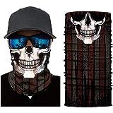 Seamless Bandanas Skull Face Mask - Women & Men Neck Gaiter Face Mask for Outdoor