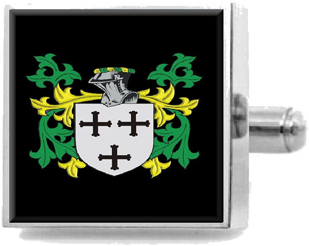 Select Gifts Fulcher England Family Crest Surname Coat Of Arms Cufflinks Personalised Case