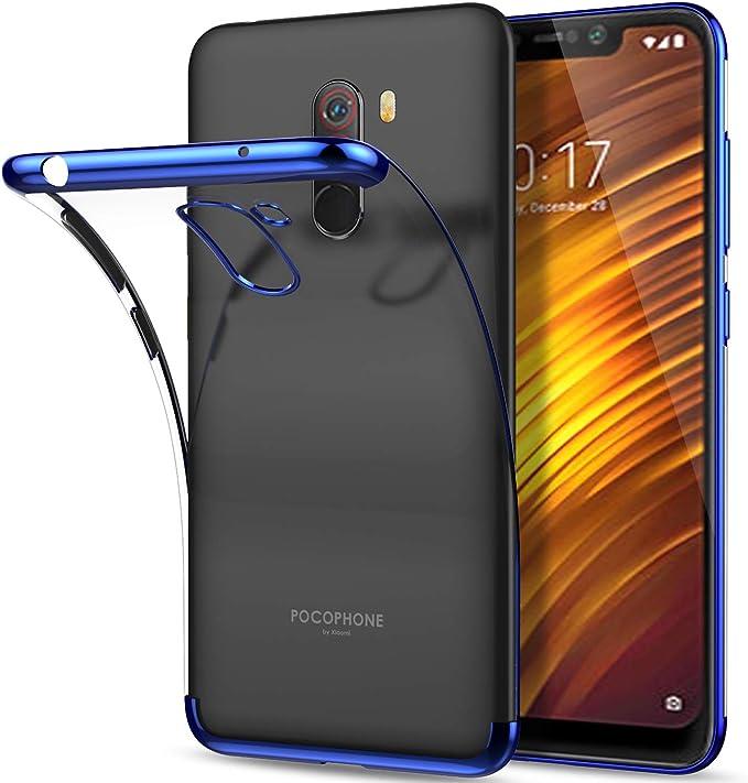 QULLOO Xiaomi Pocophone F1 Funda, Soft Funda TPU Parachoques Funda ...