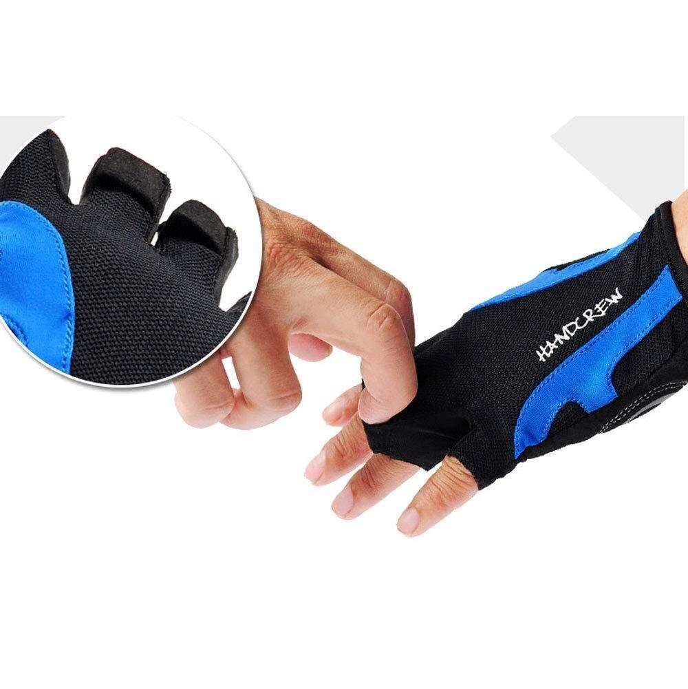 HJBH Sommer M/änner und Frauen Reiten Halbfingerhandschuhe D/ünnschliff Mountainbike Reiten Atmungsaktive Kurzfingerhandschuhe Fahrradausr/üstung Feuchtigkeitstransport Mitten Color : Blue, Size : M