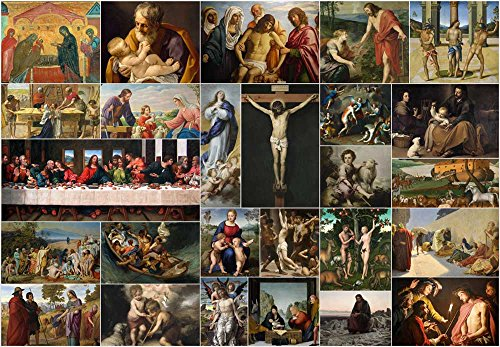 Peel and Stick Wallpapaer Bible Stories Christian Paintings Collage Removable Large Wall Mural Creative Wall Decal