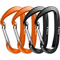 B-Mardi Ultra Sturdy Locking Carabiner Clips,2 Pack,Certified 12KN (2697 lbs) Heavy Duty Caribeaners for Hammocks, Camping,Locking Dog Leash and Harness, Outdoor, Keychain etc