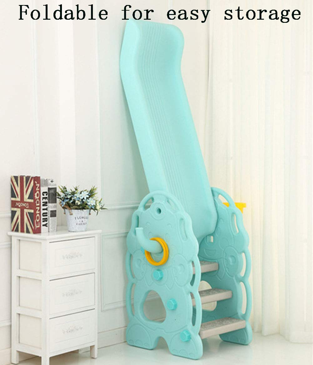 Toddler Slide and Climber Indoor Outdoor Climbers Slides for Toddlers Folds for Easy Storage Infant Climbers Kids Playground 130x36x80cm Blue by Thole (Image #6)