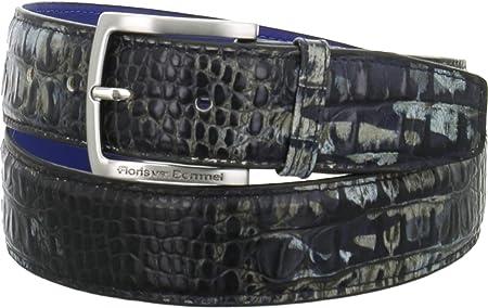 Floris van Bommel - Cinturón para hombre (105 cm), color negro