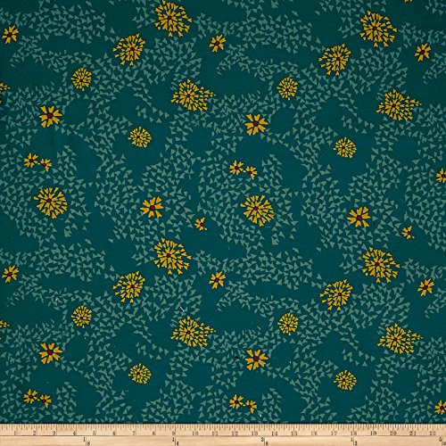 Art Gallery Shore Remains Splendid Jersey Knit Green Fabric By The Yard by Art Gallery Fabrics