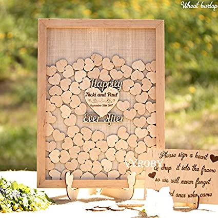 Amazon Guestbook Rustic Wedding Decor Ideas Wood Wedding Guest