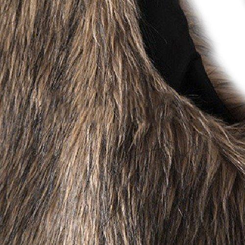 Dikoaina Fashion Women's Faux Fur Waistcoat