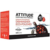 Attitude Dishwasher Eco Pouches Phosphate Free Detergent -- 40 Pouches