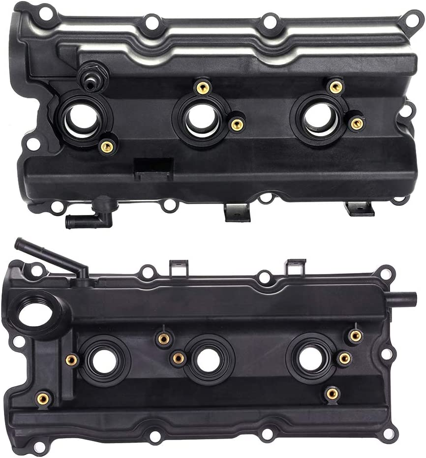 SCITOO Engine Valve Cover with Gasket Replacement for FX35 G35 Infiniti M35 Nissan 350Z 2003-2008 Valve Covers Set
