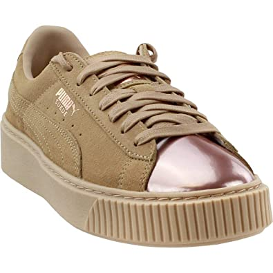 51162dcce63f Image Unavailable. Image not available for. Color  PUMA Womens Suede Platform  Rose Gold ...