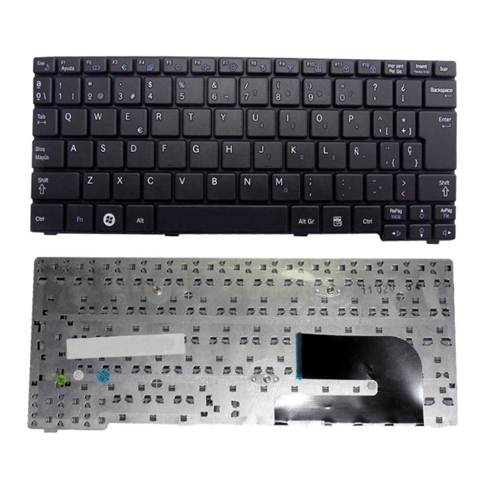Replacement Keyboard for Samsung N148 N150 NB20 NB30 N128 N145 NP-N145 Series Keyboard Spanish Black - Teclado en Español N148