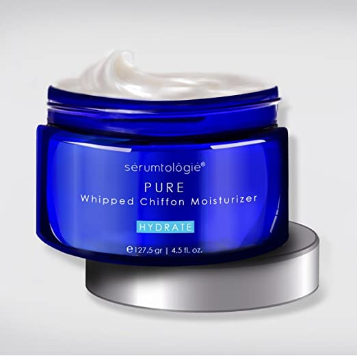 serumtologie PURE Whipped Chiffon Moisturizing Skin Care Cream|Anti Aging Facial Moisturizer|For Men & Women|Non Greasy, Oil & Fragrance Free|Normal, Oily, Combination & Sensitive Skin | 4.5oz