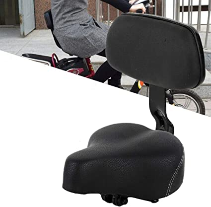 Universal Bicycle Tricycle Saddle Bicycle Saddle Seat Pad With Back 100/% NEW