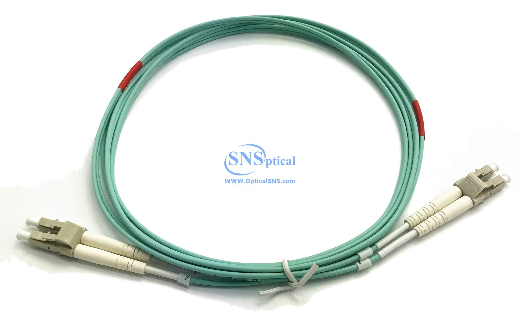 Optical SNS LC/UPC to LC/UPC Duplex OM3 complies with ISO/IEC11801-2nd Muti Mode Patch Cord 100m(300ft)