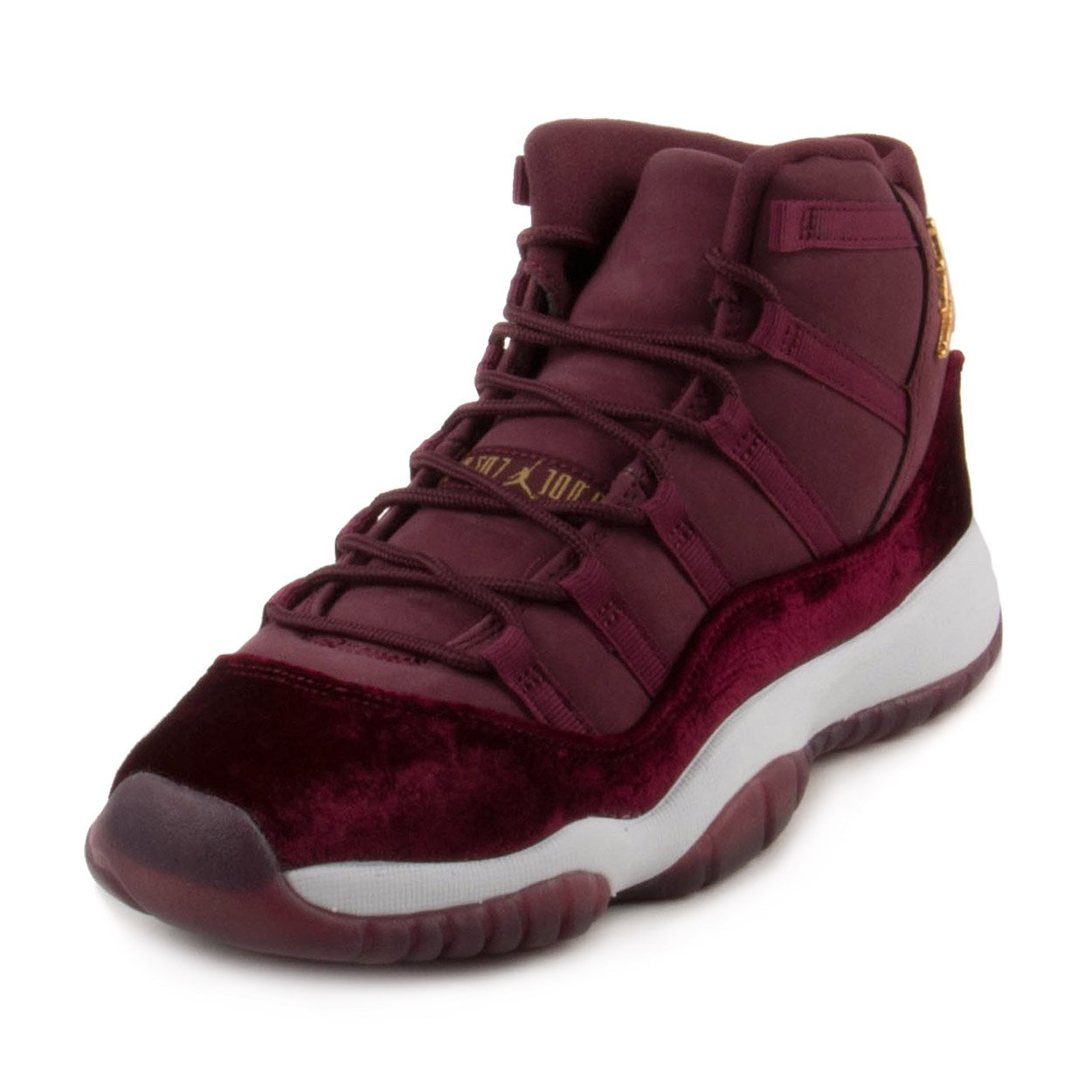 Nike Womens Air Jordan 11 Retro RL GG ''Heiress'' Night Marron/Metallic Gold Suede Size 7Y by NIKE