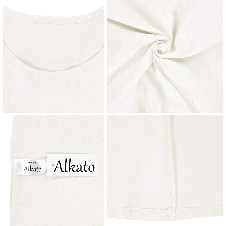 Alkato Camiseta con Mangas 3//4 con Escote Redondo para Mujer
