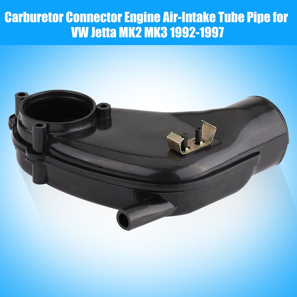 Qiilu Carburetor Connector Rubber Dust Cover Engine Air-Intake Tube Pipe for VW Jetta MK2 MK3 92-97