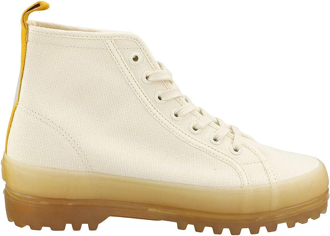 Superga 2341 Alpina Jelly Gum Cotu Sneaker Donna S1114XW A0E White Pink Extase