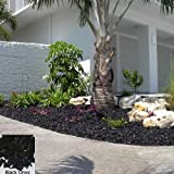 YARDWISE Landscape Rubber Mulch 75 Cu.Ft. Pallet-Black Onyx Color